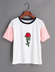 Damen Druck Einfach Ausgehen T-shirt,Rundhalsausschnitt Frühling Sommer Kurzarm Baumwolle