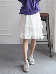Korea-Frauen neue Kleider kaufen - Spitze doppelte Göttin Rock wilde Röcke