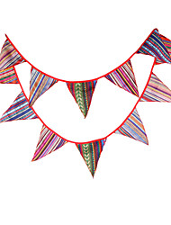 3.3m 12Flags National Banner Pennant  Cotton Bunting Banner Booth Props Photobooth Birthday Wedding Party Decoration
