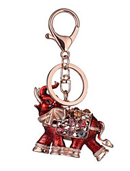 Key Chain Key Chain Elephant Chic & Modern Creative Leisure Hobby Blue Metal