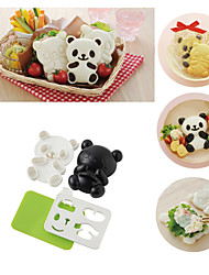 4 in 1 Baby Panda Sushi Rice Mould Onigiri Shaper Roasted Seaweed Cutter Kitchen Tools