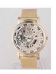 Masculino Relógio Esportivo Quartzo / Aço Inoxidável Banda Vintage Prata Dourada Dourado Prata