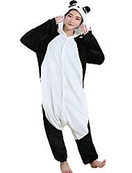 Kigurumi Pijamas Oso Panda Leotardo/Pijama Mono Festival/Celebración Ropa de Noche de los Animales Halloween Negro Estampado Animal