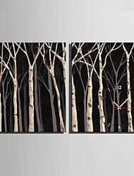 Moderno/Contemporáneo Otros Reloj de pared,Rectangular Lienzo35X50cm(14inchx20inch)x2pcs/ 40 x 60cm(16inchx24inch)x2pcs/ 50 x