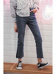 подписывать новые загрузки вырезать джинсы стиральная заусенцев цвета заклятье женщин высокой талии брюки тонкие дикие