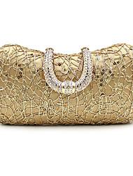 L.west Women Elegant High-grade Cable Sequins Diamonds Evening Bag