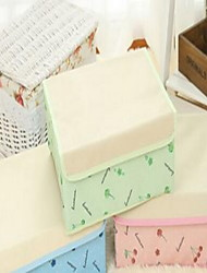 Storage Boxes Textile withFeature is Lidded  For Underwear Oxford Cloth Underwear Storage Box Random Pattern And Color