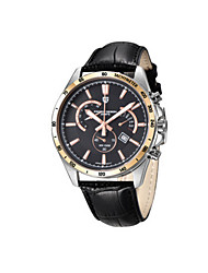 Sport Watch Quartz / Leather Band Black Brand