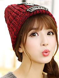 femmes couple laine impression crâne boîte de nuit de sports de plein air hiver plus chaud cachemire bonnet de ski à tricoter