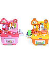 Aparelhos para cozinhar alimentos para crianças Modelo e Blocos de Construção Brinquedos Iluminação de LED Som Brinquedos ABS Rosa Amarelo