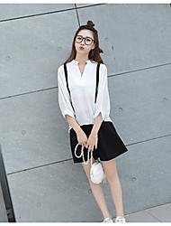 знак # 2017 новый поддельный ремень шифон фонарь рукав кнопку назад рубашку женский темперамент + зонтик юбка юбки