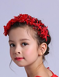 Girl's Rhinestone Headpiece-Wedding Special Occasion Outdoor Flowers 1 Piece