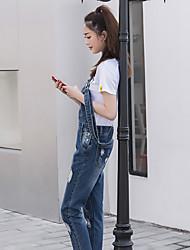 signer de nouveaux dan grande poche à fermeture éclair lavé pantalon non denim main-coupe simple femme