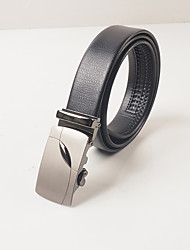 Men's casual fashion black PVC lizards automatic cingulate body is about 3.6 cm wide