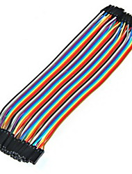 20Cm 40Pin Mother To Female Lab Single Chip Computer Cable Color Jumper Terminal Line Dupont Line