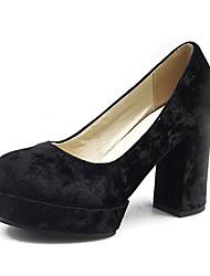 Bureau & Travail Habillé Décontracté-Noir Rouge Or Kaki-Gros Talon-Autre-Chaussures à Talons-Laine synthétique