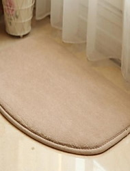 Casual Polyester Bath Rugs