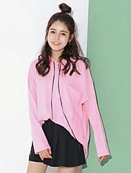 unterzeichnen Punkt Süßigkeiten Farbe der beiläufigen mit Kapuze Pullover weibliche T-Shirt