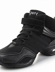Non Customizable Women's Dance Shoes Fabric Fabric Jazz Dance Sneakers Modern Swing Shoes Salsa Sneakers Low Heel Practice Indoor Outdoor