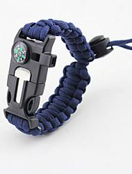 Bracelet de survie Randonnées Camping Voyage Extérieur Multi Fonction Nylon