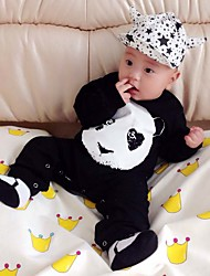 Baby Newborn Fashion Cute The Bearcat Printing Print Out Conjoined Rompers Clothes  Climb Clothes