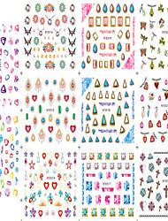 1pcs 11design Nail Art Sticker Colorful&Beautifu Image Charming Diamond Design 3D Nail Decals Makeup Cosmetic Nail Tips E512-522