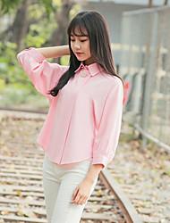 obtenir Broche feuilletée sept printemps et d'été des femmes poupée col chemise blanche lanterne korean manches mousseline de soie chemise