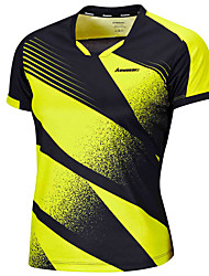 Men's Short Sleeve Running Tops Breathable Comfortable Summer Sports Wear Badminton Polyester Loose Green Pink Solid
