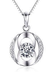 Pendants Crystal Sterling Silver Simulated Diamond Basic Circular Silver Jewelry Daily Casual 1pc