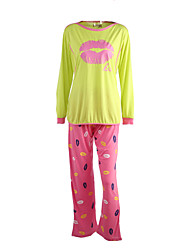 Les empreintes de lèvres de mode de maternité qui allaitent pyjama ensemble de vêtements
