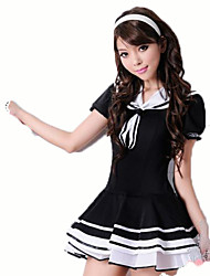 Cosplay Costumes Student/School Uniform Festival/Holiday Halloween Costumes Solid Carnival Female Stretch satin Cotton