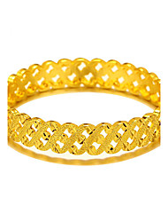 New Style Luxury Bangles Fashion Safety Clasp Engraving Jewelry 24K Gold Plated Classic Design Bracelets