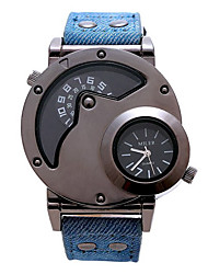 Men's Fashion Watch Quartz Water Resistant / Water Proof Fabric Band Cool Casual Black Blue Red