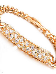 Bracelet Chain Bracelet Zircon Copper Gold Plated Others Fashion Party Birthday Gift Christmas Gifts Jewelry Gift Gold,1pc
