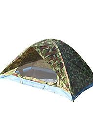 2 человека Световой тент Двойная Семейные палатки Однокомнатная Палатка ПолиэстерПешеходный туризм Походы Путешествия На открытом воздухе