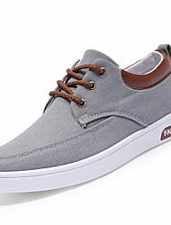 Men Sneakers Spring Summer Comfort Canvas Outdoor Sport Casual Low Heel Lace-up Blue Gray Beige Walking