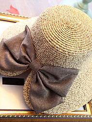 Women's Fashion Wide Brim Floppy Straw Hat Sun Hat Beach Cap Casual Bowknot Summer Holiday