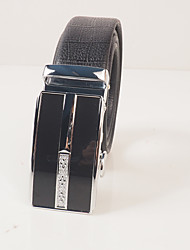 Men's wear resistant PVC black turtle embossed fashion leisure automatic buckle belt body is about 3.6 cm wide