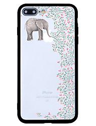 Pour Motif Coque Coque Arrière Coque Eléphant Dur Acrylique pour AppleiPhone 7 Plus iPhone 7 iPhone 6s Plus/6 Plus iPhone 6s/6 iPhone