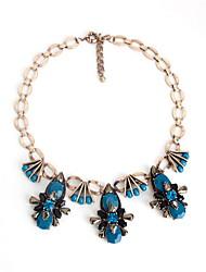 Women's Strands Necklaces Jewelry Gemstone Gem Alloy Drop Jewelry Fashion Personalized Euramerican Luxury Jewelry Dark Blue JewelryParty