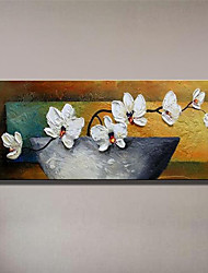 Hand-Painted Still Life Floral/Botanical 100% Hang-Painted Oil PaintingModern European Style One Panel Oil Painting For Home Decoration