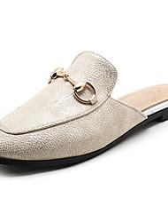 Women's Slippers & Flip-Flops Spring Summer Fall PU Dress Casual Flat Heel White Beige