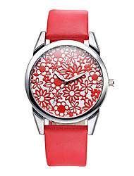 Women's Fashion Watch Quartz Leather Band Cool Casual Black White Red Brown Yellow Brand