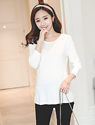Sign spring seasons Maternity T-shirt solid color shirt blouse Modal month of service has a large cargo