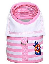 Dog Leash Adjustable/Retractable Safety Training Flower Pink Fabric