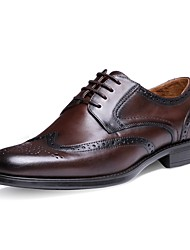 Westland's Men's Oxfords/Classical/Bullock/Cow Leather/Casual/Black/Deep Brown