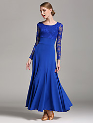 High-quality Milk Fiber with Lace Ballroom Dance Dresses for Women's Performance(More Colors)