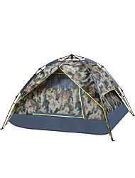 3-4 persons Tent Single Fold Tent One Room Camping Tent Polyester Waterproof Breathability Rain-Proof Windproof-Hiking Camping Traveling