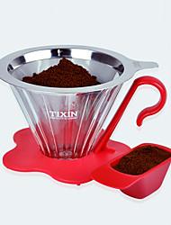 мл Нержавеющая сталь Plastic Фильтр для кофе , 4 чашки капельного кофе производитель Многоразового использования