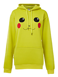 Inspired by Pocket Monster PIKA PIKA Anime Cosplay Costumes Cosplay Hoodies Solid / Print Yellow Long Sleeve Top